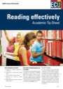 Reading effectively tip sheet