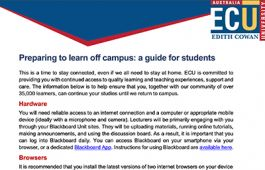 Learn off campus