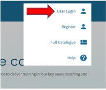 Epigeum - User Menu - User login icon