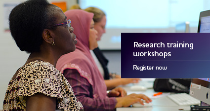 Research training workshops - register now