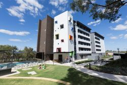 ECU Student Village building at the Joondalup Campus
