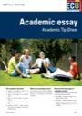 Academic essay tip sheet