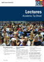 Lectures tip sheet